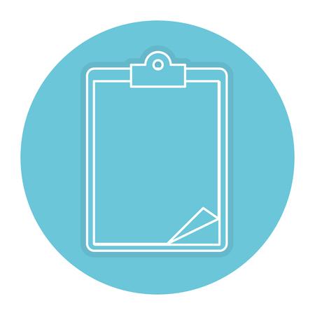 medical order clipboard icon vector illustration design
