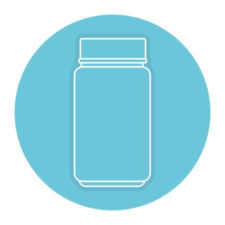 bottle medical drug icon vector illustration design Çizim