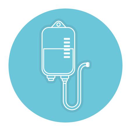 Bolsa de sangre donación icono de diseño de ilustración vectorial Foto de archivo - 84670547
