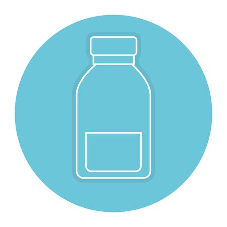 bottle medical drug icon vector illustration design Illustration