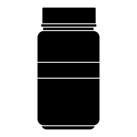 Medical drug bottle icon vector illustration design