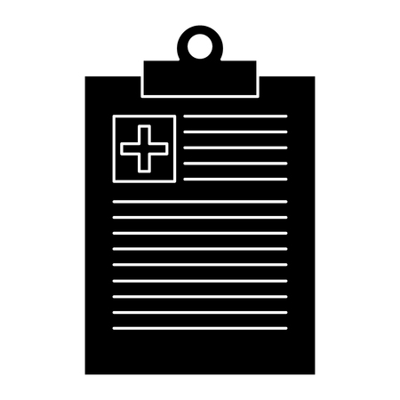 Medical order clipboard icon vector illustration design