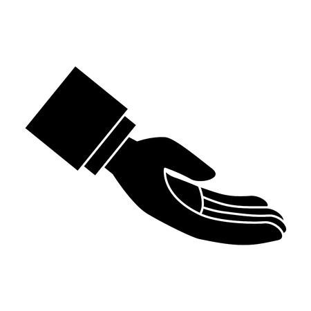 Main demandant isolé conception d'icône vector illustration Banque d'images - 84674589