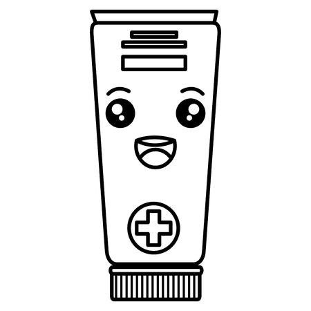Tube medical drug character vector illustration design