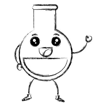 tube test kawaii character vector illustration design Stock Vector - 84672365