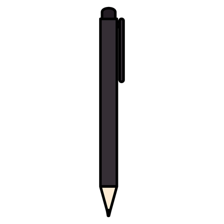 school pen isolated icon vector illustration design
