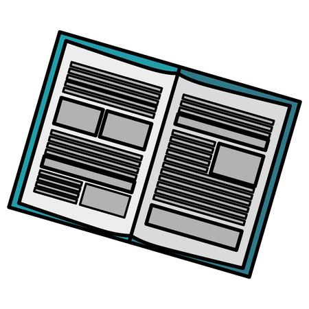 ノートブック学校分離アイコン ベクトル イラスト デザイン