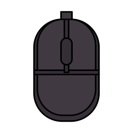 computer muis geïsoleerd pictogram vector illustratie ontwerp