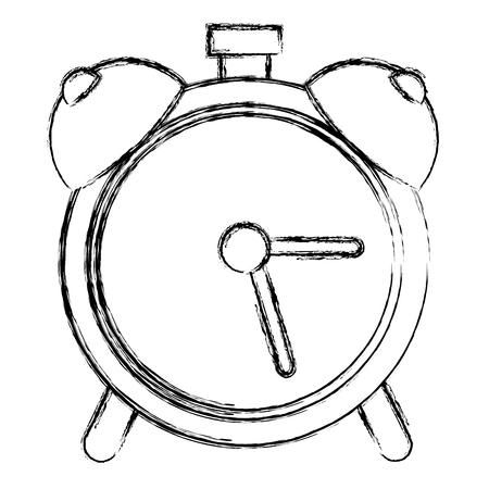 alarm klok geïsoleerd pictogram vector illustratieontwerp Stock Illustratie