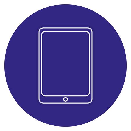 タブレット デバイスのアイコン ベクトル イラスト デザインを分離しました。  イラスト・ベクター素材