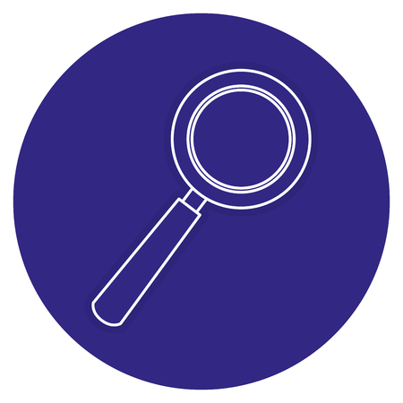 magnifying glass isolated icon vector illustration design