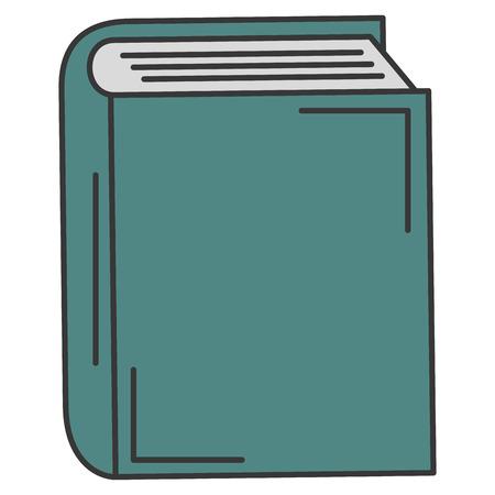 텍스트 책 고립 된 아이콘 벡터 일러스트 디자인