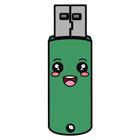 usb memory  character vector illustration design 向量圖像