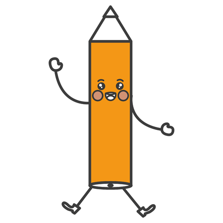 writing instruments: pencil write  character vector illustration design
