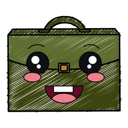portfolio briefcase character vector illustration design 向量圖像