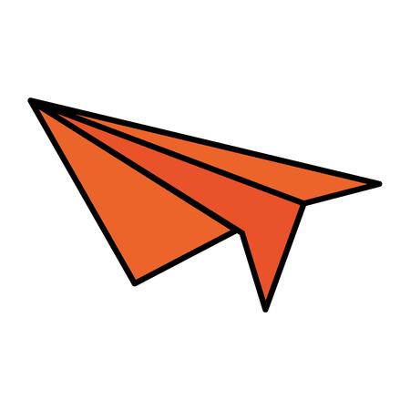 vliegtuig papier geïsoleerd pictogram vector illustratie ontwerp Stock Illustratie