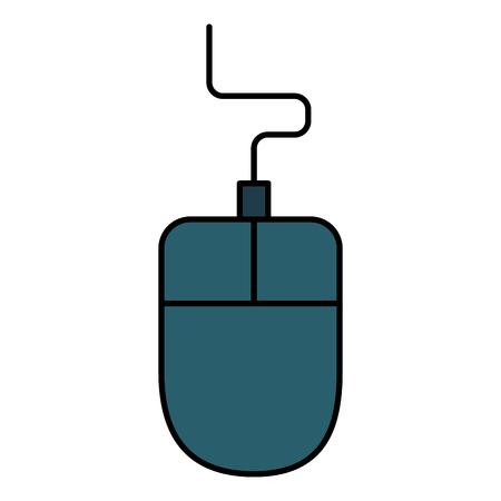 コンピューターのマウス アイコン ベクトル イラスト デザインを分離しました。