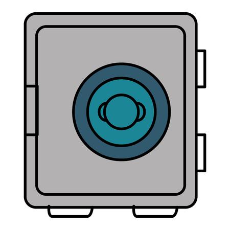 安全な箱分離アイコン ベクトル イラスト デザイン