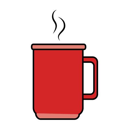 コーヒー カップのアイコン ベクトル イラスト デザインを分離しました。