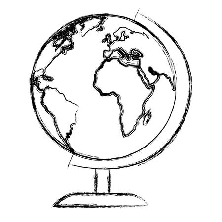 world planet education icon vector illustration design