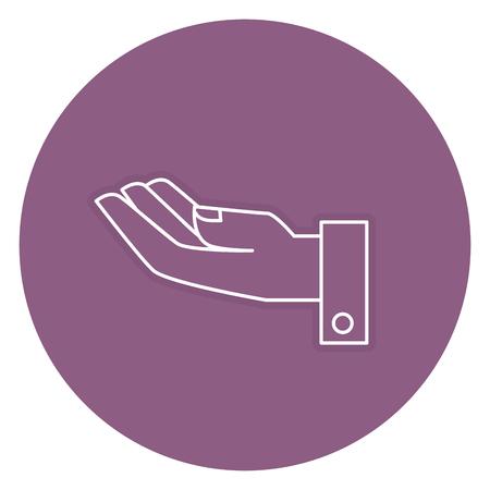 Main demandant isolé conception d'icône vector illustration Banque d'images - 84677448