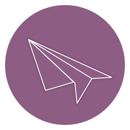 Vliegtuig papier geïsoleerd pictogram vector illustratie ontwerp Stockfoto - 84677527
