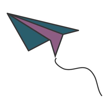 Vliegtuig papier geïsoleerd pictogram vector illustratie ontwerp Stockfoto - 84677530