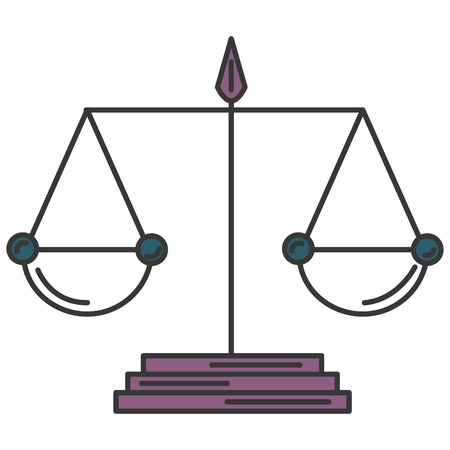 justice balance isolated icon vector illustration design