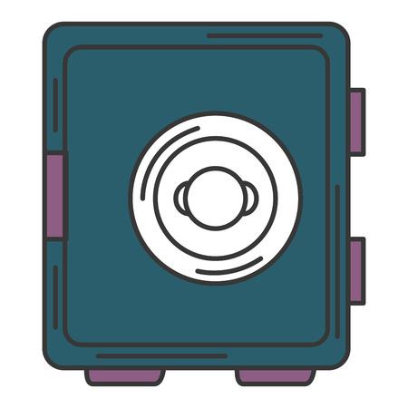 Caja segura aislado icono de ilustración vectorial de diseño Foto de archivo - 84675129