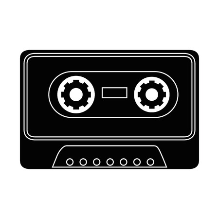 cassette pictogram over witte achtergrond vectorillustratie Stock Illustratie