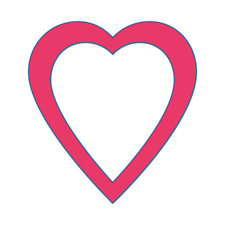 pink heart icon over white background vector illustration