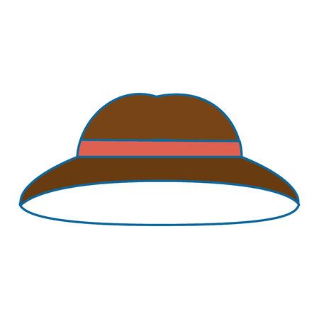 白背景ベクトル イラスト上の帽子アイコン