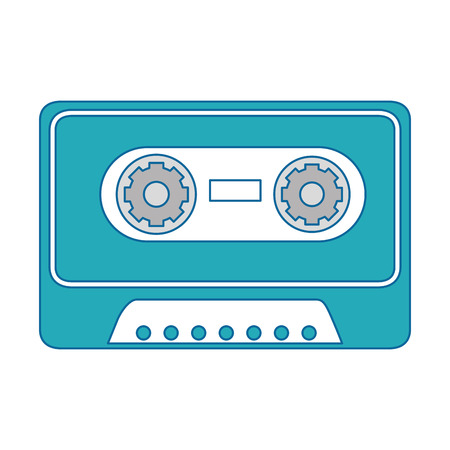 casette icon over white background vector illustration Иллюстрация