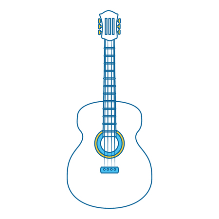 guitar instrument icon over white background vector illustration Illusztráció