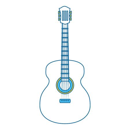 guitar instrument icon over white background vector illustration Çizim