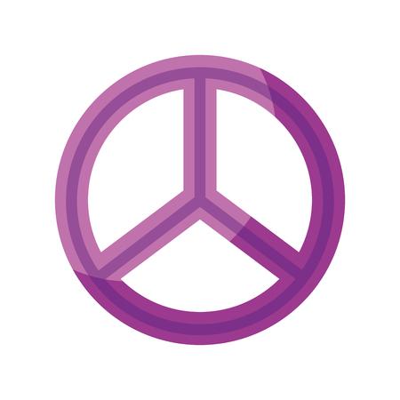 peace symbol isolated icon vector illustration design Illustration
