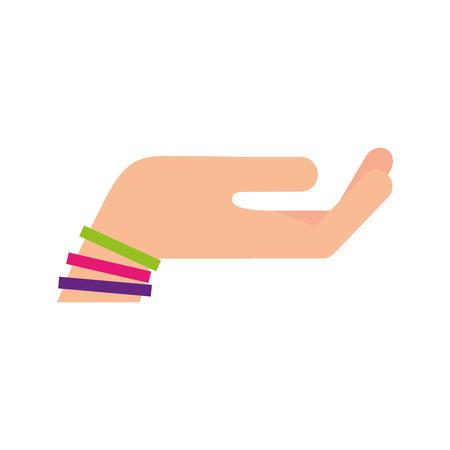 Hand fragen isolierten Symbol Vektor-Illustration , Design , Standard-Bild - 84683097