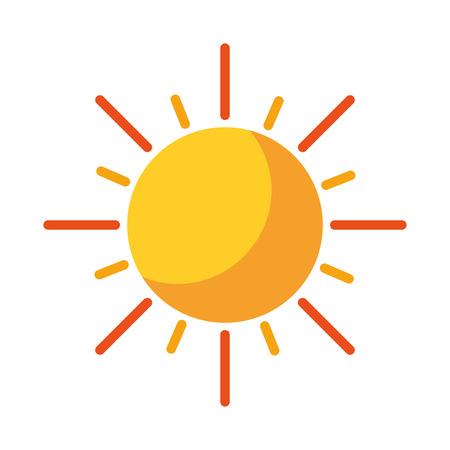 sun energy: summer sun isolated icon vector illustration design