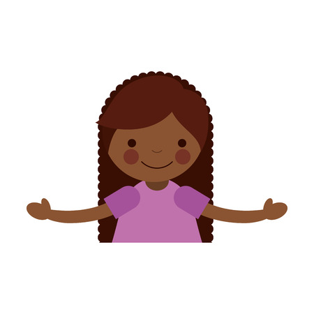 cute little black girl character vector illustration design Illustration