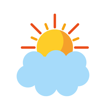 summer sun with cloud vector illustration design Ilustrace