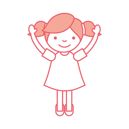 Niedliches kleines Mädchen Zeichen Vektor-Illustration Design Standard-Bild - 84683111