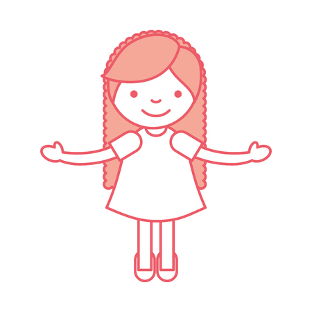 cute little girl character vector illustration design