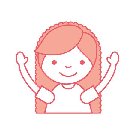 Niedliches kleines Mädchen Zeichen Vektor-Illustration Design Standard-Bild - 84683009