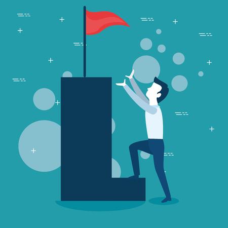 Man of Business management and workforce theme Vector illustration Ilustração