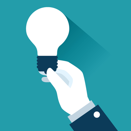Light bulb of Business management and workforce theme Vector illustration
