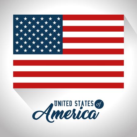 Flag of United States of America theme Vector illustration 向量圖像