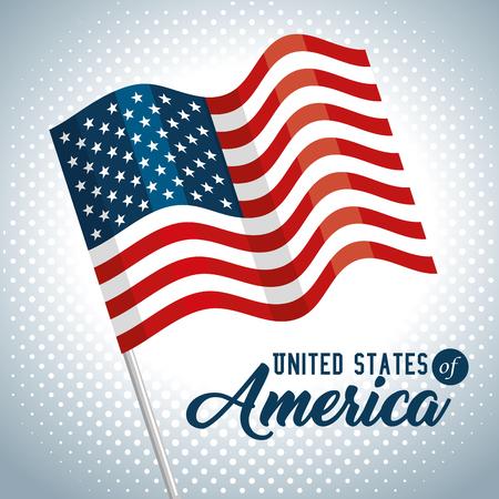 Flag of United States of America theme Vector illustration Illustration