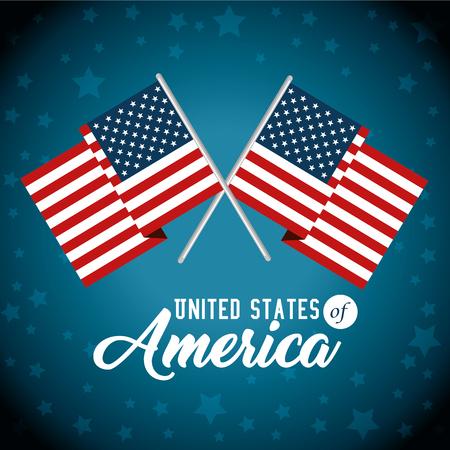 Flag of United States of America theme Vector illustration Ilustrace