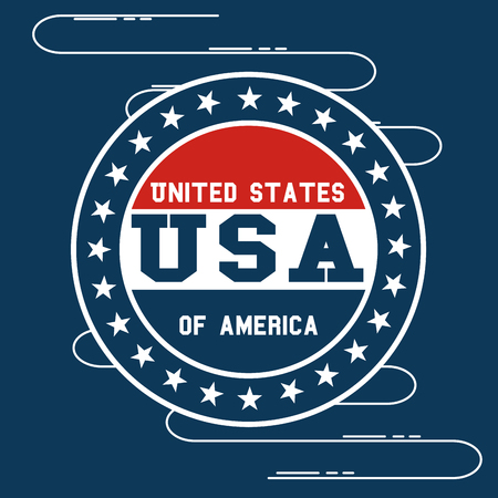 Seal stamp of United States of America theme Vector illustration