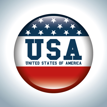 Button of United States of America theme Vector illustration